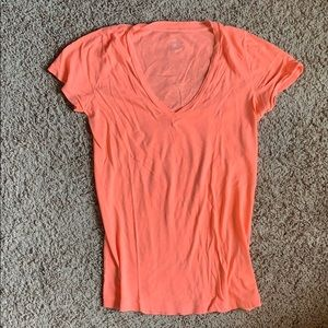 Jcrew vintage cotton XS neon coral t-shirt